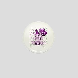 BIRTHDAY AGE: 2 (purple) Mini Button