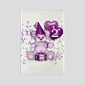 BIRTHDAY AGE: 2 (purple) Rectangle Magnet