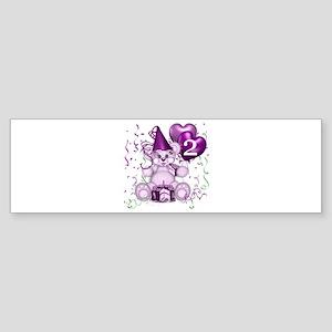 BIRTHDAY AGE: 2 (purple) Bumper Sticker