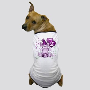 BIRTHDAY AGE: 2 (purple) Dog T-Shirt