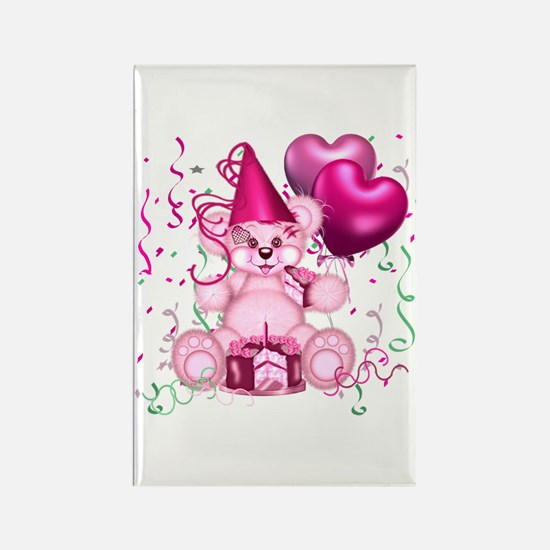 BIRTHDAY/BALLOONS (pink) Rectangle Magnet (100 pac