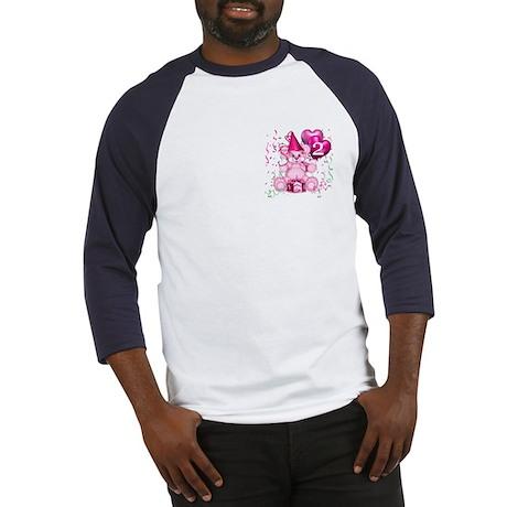 BIRTHDAY AGE 2 (pink) Baseball Jersey