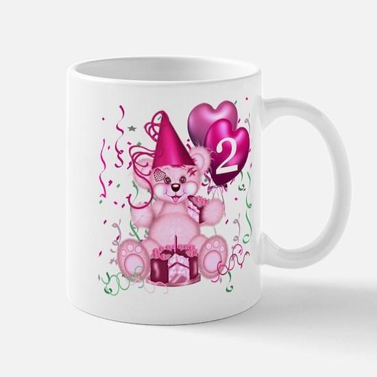 BIRTHDAY AGE 2 (pink) Mug