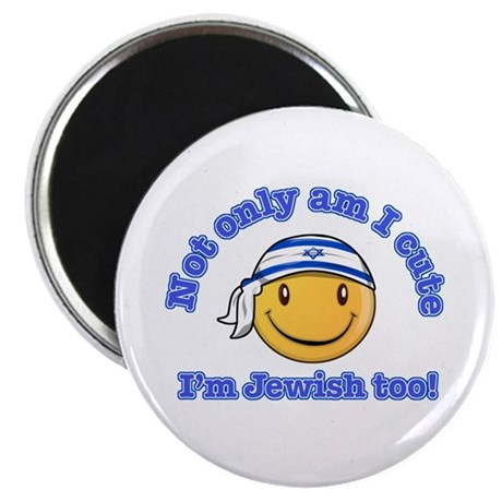 """Not only am I perfect I'm Jewish too! 2.25"""" Magnet"""