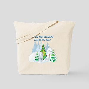 Christmas Time Poodle Tote Bag
