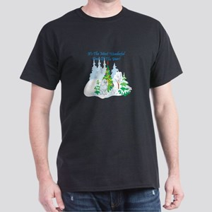 Christmas Time Poodle Dark T-Shirt