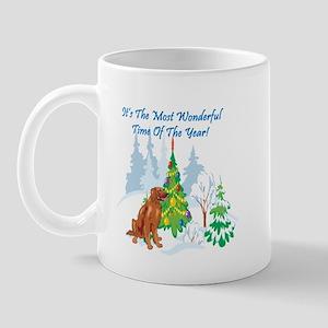 Christmas Time Irish Setter Mug