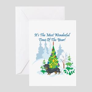 Christmas Time Dachshund Greeting Card