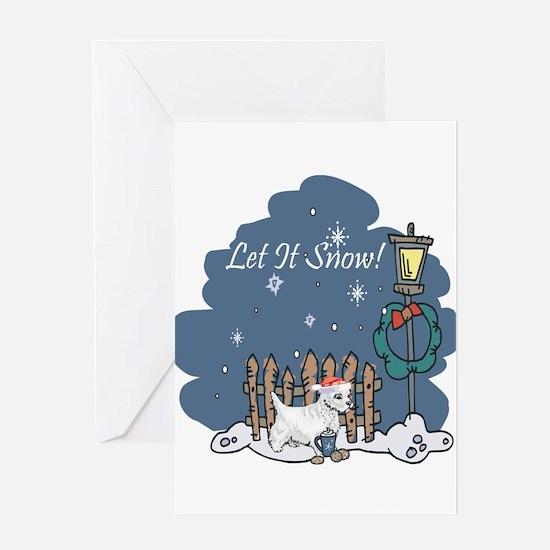 Let It Snow Westie Greeting Card