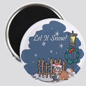 Let It Snow Shih Tzu Magnet