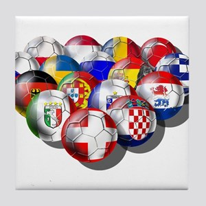 European Soccer Football Tile Coaster