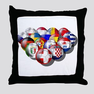 European Soccer Football Throw Pillow