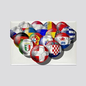 European Soccer Football Rectangle Magnet