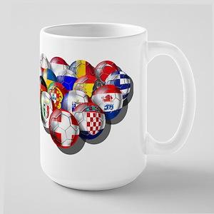 European Soccer Football Large Mug