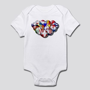 European Soccer Football Infant Bodysuit