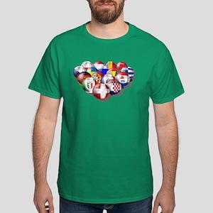 European Soccer Football Dark T-Shirt