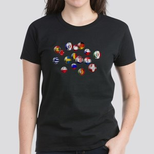 European Football Women's Dark T-Shirt
