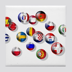 European Football Tile Coaster