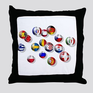 European Football Throw Pillow