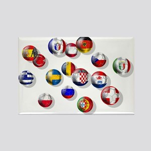 European Football Rectangle Magnet