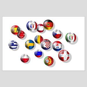 European Football Large Poster