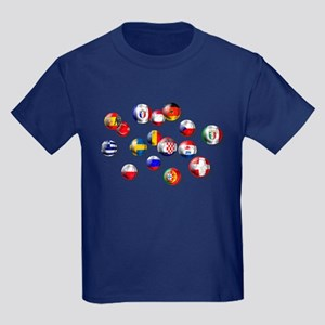 European Football Kids Dark T-Shirt