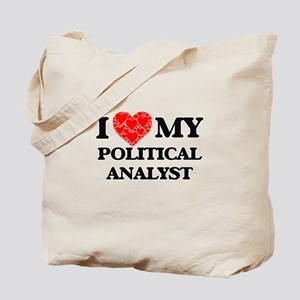 I Love my Political Analyst Tote Bag