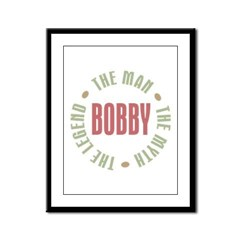 Bobby Man Myth Legend Framed Panel Print