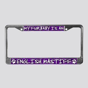 Furbaby English Mastiff License Plate Frame
