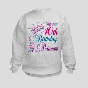 10th Birthday Princess Kids Sweatshirt
