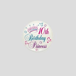 10th Birthday Princess Mini Button