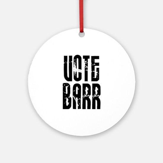 Vote Barr Ornament (Round)