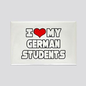 """I Love My German Students"" Rectangle Magnet"