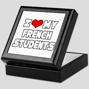 """I Love My French Students"" Keepsake Box"