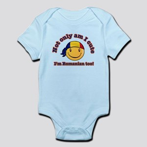 Not only am I cute, I'm Romanian too! Infant Bodys