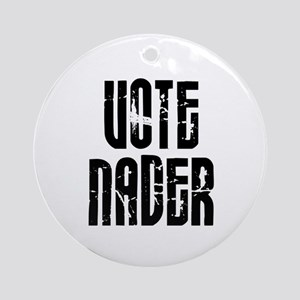 Vote Nader Ornament (Round)