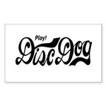 Play! Disc Dog Rectangle Sticker 50 pk)