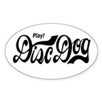 Play! Disc Dog Oval Sticker