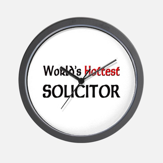 World's Hottest Solicitor Wall Clock