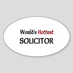World's Hottest Solicitor Oval Sticker