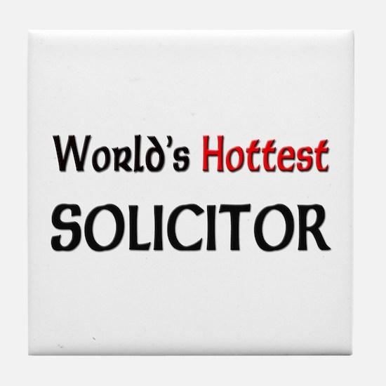 World's Hottest Solicitor Tile Coaster