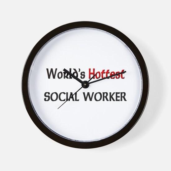 World's Hottest Social Worker Wall Clock