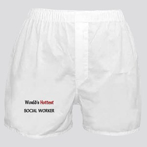 World's Hottest Social Worker Boxer Shorts