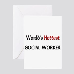 World's Hottest Social Worker Greeting Cards (Pk o