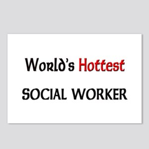 World's Hottest Social Worker Postcards (Package o