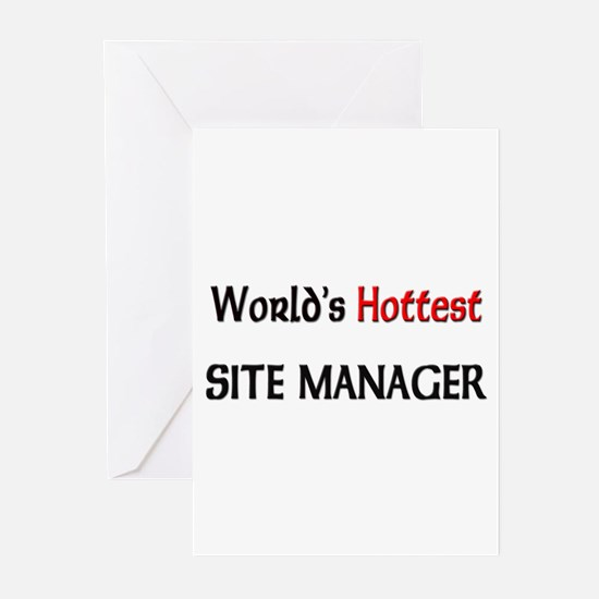 World's Hottest Site Manager Greeting Cards (Pk of