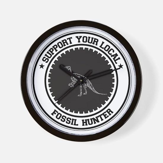 Support Fossil Hunter Wall Clock