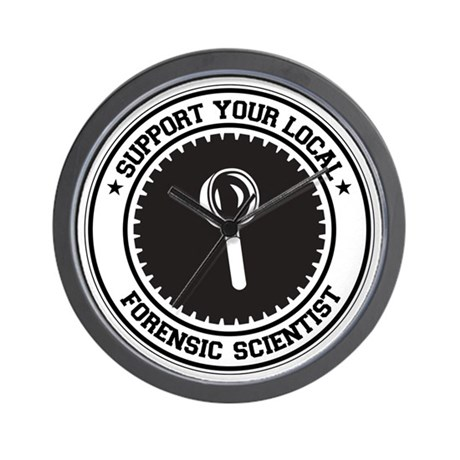 Support Forensic Scientist Wall Clock
