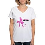 Fitness Shedevil Women's V-Neck T-Shirt