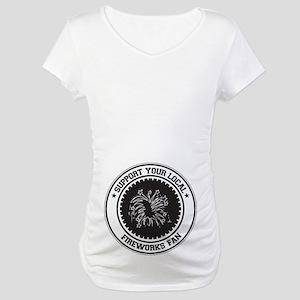 Support Fireworks Fan Maternity T-Shirt